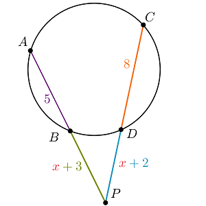 Solved: In The Diagram, AP¯¯ Is Secant To The Circle At Po