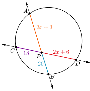 Solved: In The Diagram, AB Is Secant To The Circle At Poin